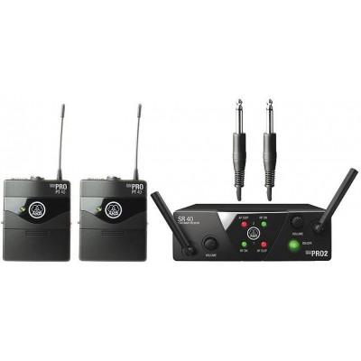 AKG WMS40 Mini Instrumental Set BD US25D инструментальная радиосистема с приёмником SR40 Mini и порт