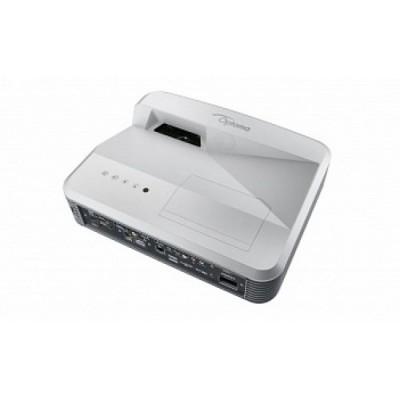Комплект из интерактивной доски IQBoard DVT TN092, ультракороткофокусного проектора Optoma W320UST с потолочным креплением