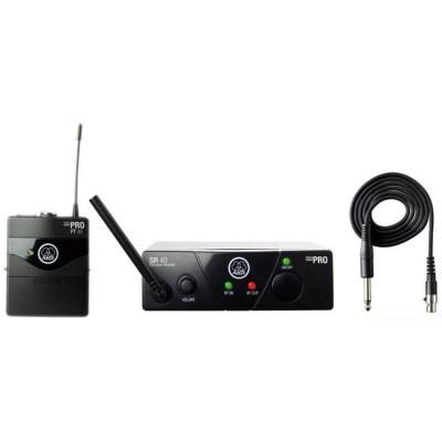 AKG WMS40 Mini Instrumental Set BD US25A инструментальная радиосистема с приёмником SR40 Mini и портативным передатчиком PT40 Mini