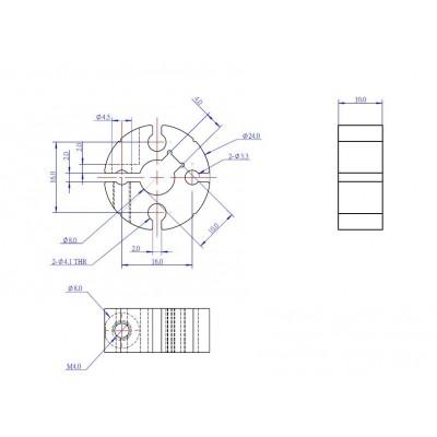 Зажимная втулка вала 8 мм Shaft Clamping Hub 8mm-C