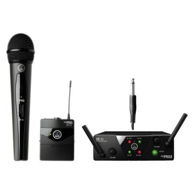 AKG WMS40 Mini2 Mix Set US25AC радиосистема с приёмником SR40 Mini Dual, 1 портативным и 1 ручным передатчиком