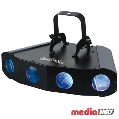American DJ Quad Gem LED светодиодный прибор с четырьмя линзами, создающими эффект «лунного цветка»