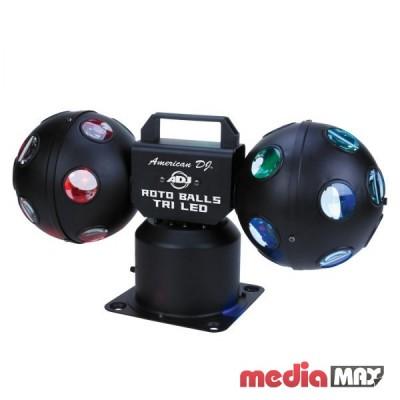 American DJ Roto Balls TriLED светодиодный прибор, состоящий из 2-х вращающихся шаров с 60 лучами