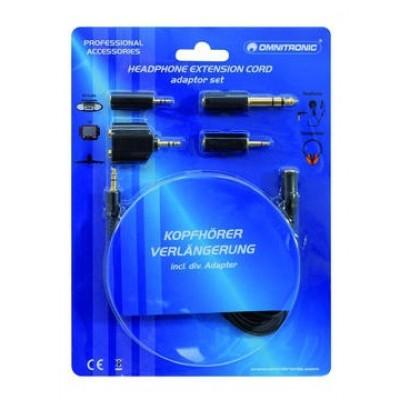Кабель удлинитель комплект переходников Eurolite Headphone extension 3m with adaptor set